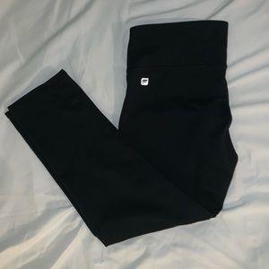 Fabletics Cropped/Capri Black Leggings